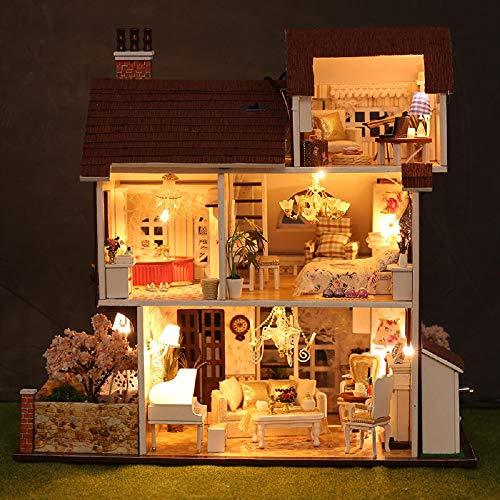 Miniature 3D Greenhouse Craft Kits For Adults, Villa Assembled Handmade Doll House Model