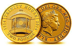 Mint 24K CARAT GOLD PLATED Trinity House 2014 £2 Pound Brilliant Uncirculated Coin with Airtite Capsule Coin Holder (Trinity House 2014)