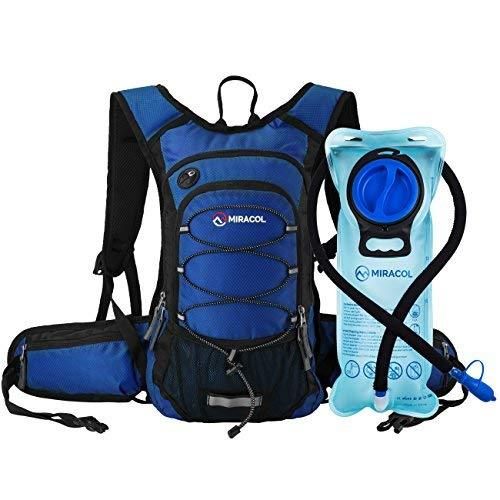 Miracol Hydration Backpack with Free Water Bladder, Thermal Insulation Hydration Pack Keeps Liquid Cool up to 4 Hours, Prefect Outdoor Gear for Hiking, Running, Camping, Cycling, Fits men, women, kids