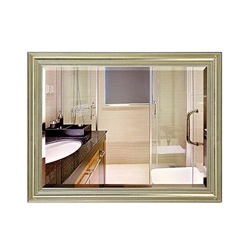 Mirror Bathroom European and American retro old bathroom cabinet toilet toilet wall hanging horizontal/environmental protection waterproof 5mm ultra clear silver (Color : C, Size : 70 * 90cm)