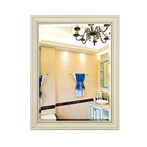 Mirror Bathroom European-style retro old bathroom cabinet bathroom toilet wall/green waterproof 5mm ultra clear silver (Color : A, Size : 70 * 90cm)