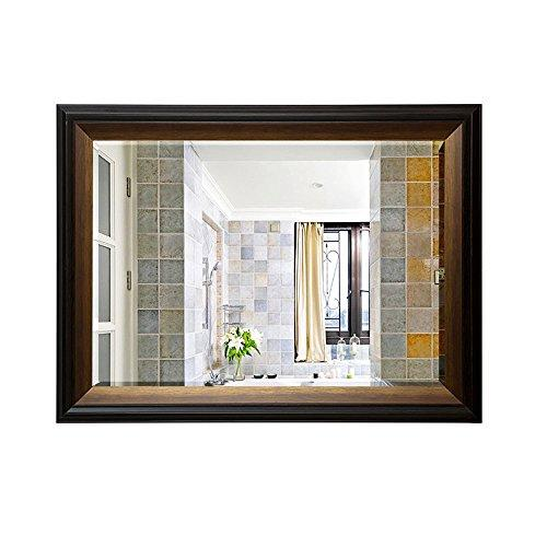 Mirror Bathroom Scandinavian retro old bathroom cabinet bathroom toilet wall/environmental protection waterproof 5mm silver (Color : B3, Size : 70 * 90cm)