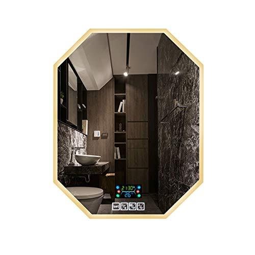 Mirror Bathroom smart LED, dressing table, wall-mounted, multi-function touch screen defogging