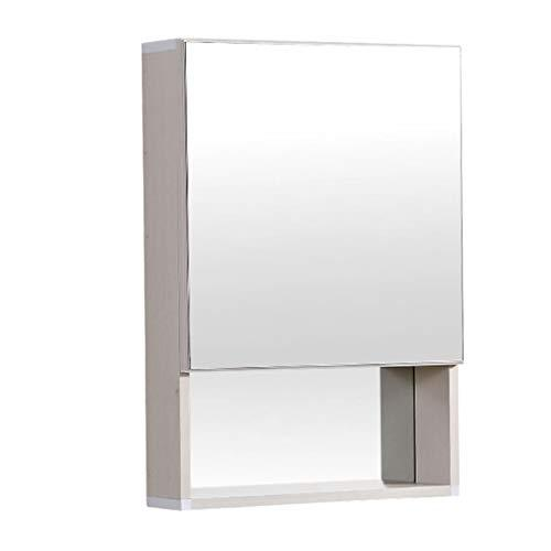 Mirror Cabinets space aluminum 48 * 68cm 80 * 68cm boown color wood color white color wall bathroom mirror with shelf simple bathroom cabinet wall mirror cabin