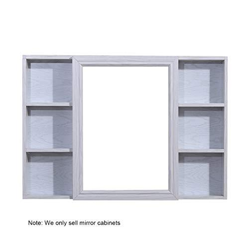 Mirror Cabinets space aluminum 90 * 70cm wood color wall bathroom mirror with shelf simple bathroom cabinet wall Wall-Mounted Vanity Mirrors