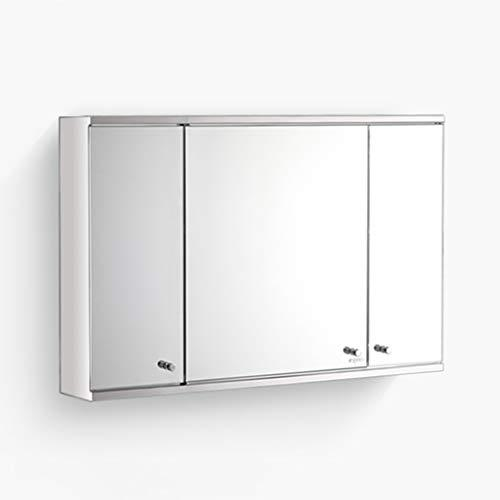 Mirror Cabinets stainless steel 60 * 50cm 80 * 50cm wall hanging 180 degree rotating installation bathroom bathroom mirror with shelf Wall-M