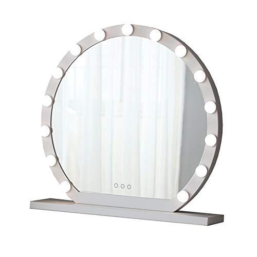 Mirror, makeup fill light, bedroom desktop LED vanity light round metal