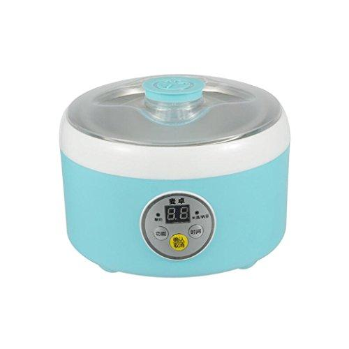 MNII Digital Yoghurt Maker Pure Yoghurt Maker | 1L Stainless steel liner | with 4 Yoghurt Jars | 24 Hour Yoghurt Automatic temperature control-Pink&Blue , blue