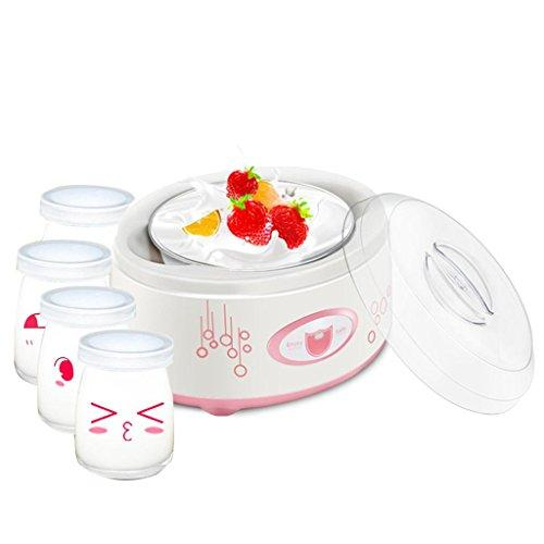 MNII Digital Yoghurt Maker Pure Yoghurt Maker | 1L Stainless steel liner | with 4 Yoghurt Jars | 24 Hour Yoghurt - Made 100% Natural Yoghurt Fully automatic control