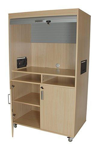 Mobeduc 600911HRC18 High with Blind Television and Video Furniture, 110 x 185 x 65 cm, Beech, 65x110x185 cm