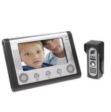 MobileFDL 7 Inch Video Door Phone Doorbell Video Entry System Intercom Kit 1-camera 1-monitor Night Vision Home Security Intercom System