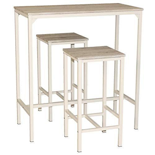 Mod. BRASIL Set Home Bar Table and 2 Stools Furniture Kitchen Living Room