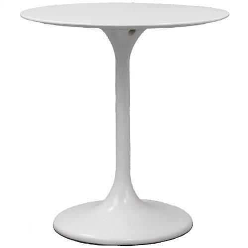 Modway Lippa 28 inch Fiber Glass Dining Table, White