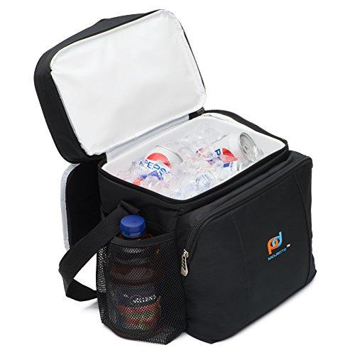 MOJECTO Cooler Bag Lunch Box With Leak Proof Hard Liner. Premium Fabric, Thick Foam Insulation, Large Pockets And Zippers. Medium Lunch Bag for Everyday Use.