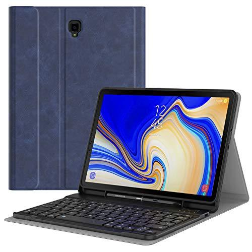 "MoKo Keyboard Case for Samsung Galaxy Tab S4 10.5"" Wireless Bluetooth Keyboard Cover with S Pen Holder for Galaxy Tab S4 10.5 Inch (SM-T830 and SM-T835) 2018 Release Tablet - Indigo"