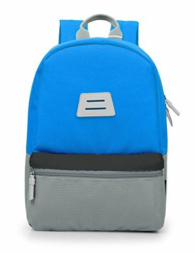 e2f486023a0bfc MOMMORE Kids Backpack for School with Chest Clip (Grey and Blue)