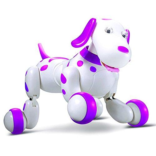 Momola RC Robot Dog Toy, RC Smart Dog Sing Dance Walking Remote Control Robot Dog Electronic Pet Kids Toy (Pink)
