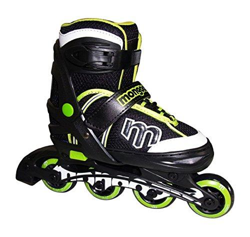 Mongoose Adjustable Inline Skates- Green, Green/Gray/Black, Size 1-4