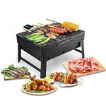 MorisMos Folding BBQ Grill Lightweight Portable Barbecue Charcoal Grill Tools for Outdoor Camping Cooking Picnics Hiking (Small - Black)
