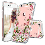 MOSNOVO iPhone 6s Case, iPhone 6 Clear Case, Floral Printed Flower Clear Design Transparent Plastic Hard Slim Case with TPU Bumper Protective Cover for Apple iPhone 6/6s (4.7 Inch)