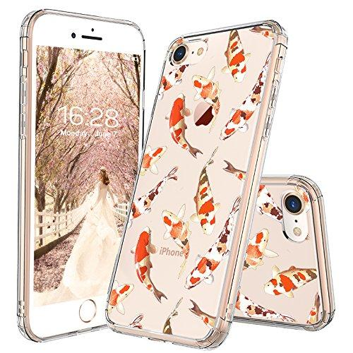 MOSNOVO iPhone 8 Case, iPhone 7 Case, Fashion Koi Fish Printed Clear Design Transparent Plastic Hard Back Case with TPU Bumper Protective Case Cover for iPhone 7 / iPhone 8