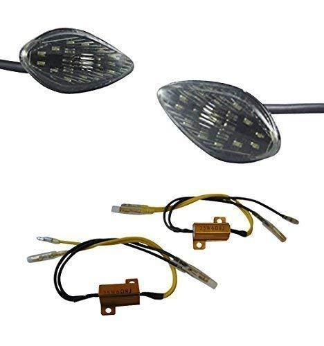 Motorbike LED Indicators - Fairing Flush Mount with Resistors
