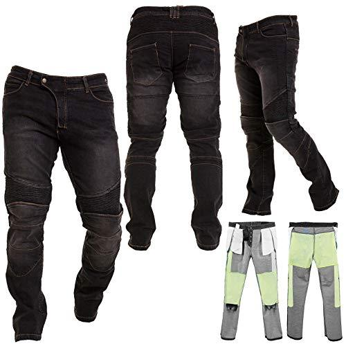 Motorbike Motorcycle Armoured Denim Jeans Pant Trouser with Safety Protection with 2X Knee Guards 2X Hip Guards for Mens Boys Adult/Size 2XL Waist - 38