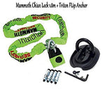 MOTORBIKE THATCHAM APPROVED DEVICE CHAIN LOCK 1.8m & Triton Flip Security Gro...N/A : 180cm - Black : One