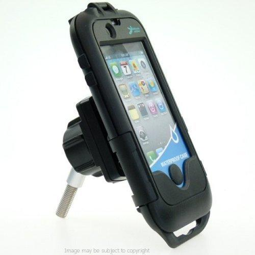 Motorcycle Handlebar Top Clamp M8 Mount & Waterproof TOUGH CASE for the Apple iPhone 4 Mobile Smart Phone (sku 11081)