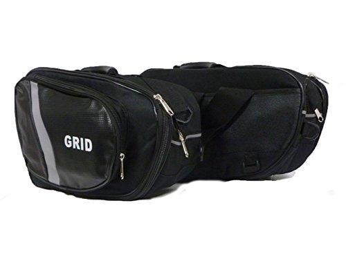 MOTORCYCLE PANNIERS BAG GRID 44-60L MOTORBIKE EXPANDING LUGGAGE TOURING SADDLE BAG