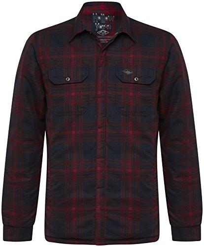 Mountain Designs Men's Damien Quilted Shirt, Midnight/Chilli, X-Large