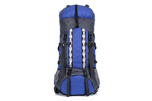 Mountaineering Clmbing Bag Lightweight Foldable Water-proof Backpack Ultralight Travel Hiking Camping Outdoor Rucksack Sport Bike Bicycle Cycling Daypack Knapsack For Mountaineer ( Color : Blue )