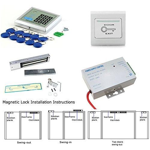 MOUNTAINONE Full RFID Door Access Control System Kit Set (180kg
