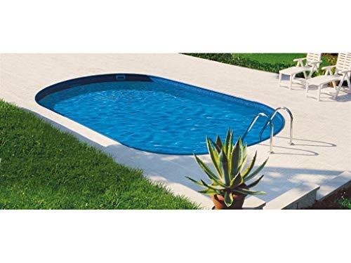 Mountfield Genuine AZURO Ibiza V10 Oval Steel Wall Pool 800 x 416 x 120cm with Inner Film without Filter System