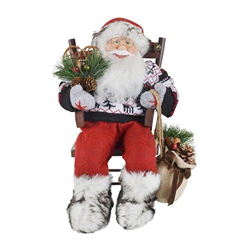 Mr Crimbo 40cm Santa Sitting On A Rocking Chair Christmas Festive Room Decoration Figure