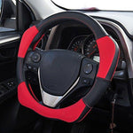 Mr.Ho Microfiber Leather Sport Steering Wheel Cover Universal 15inch (37-38cm) for Automotive Interior Accessories-Durable, Breathable, Anti slip, Odorless, Red & Black