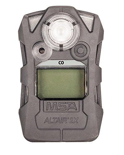 MSA Safety 10157965 Detector, ALTAIR 2X, Carbon Monoxide CO, Gray (30,60)