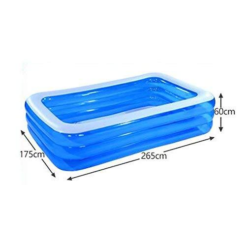 Mu Hot Tub Increase the Thickening of Children'S Inflatable Swimming Pool Family Super Large Marine Ball Pool Home Paddling Pool,265 * 175 * 60cm