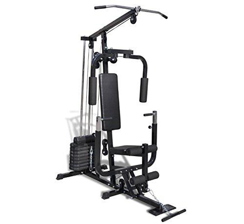 Multi-Functional Fitness Home Gym - Enables You To Do A Whole Body Workout At Home - Adjustable Weight Load With 8 Plates