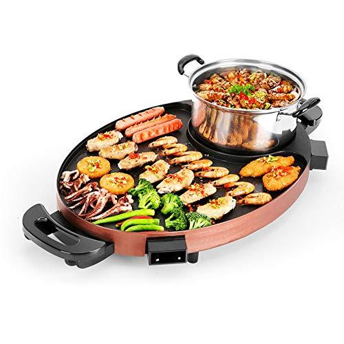 Multifunction Barbecue Pot Double Pot Electric Hot Pot Electric Grill Thai Barbecue Grill Korean BBQ Hot