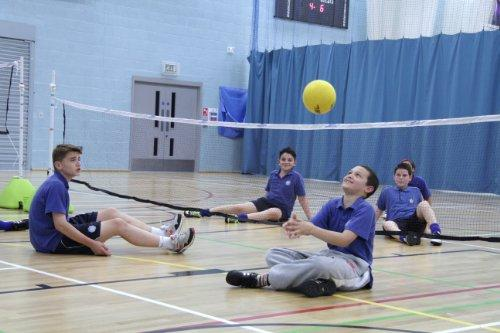 MULTISPORTBASE SITTING VOLLEYBALL POSTS AND NET BY