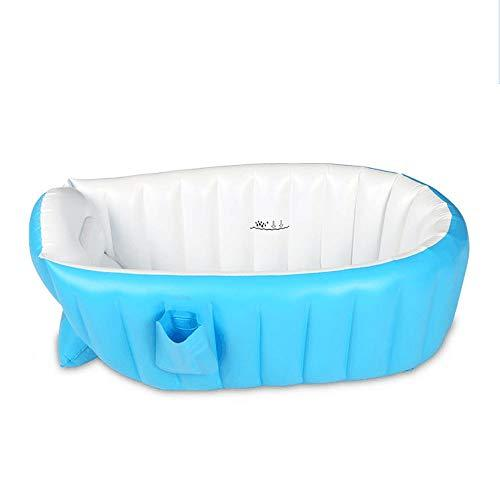 MUMUMI Baby Inflatable Bath Bathtub Pots Soft Household Large Tub Inflatable Baby Shower Baby Swimming Play Pool Water Toy Fold Convenient Storage Portable Blue
