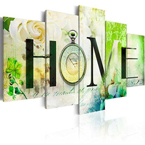 murando - Image 200x100 cm Non-woven Canvas Print Framed Wall Art Artwork Picure Photo Home Decoration 5 pieces - home flowers clock 020115-70