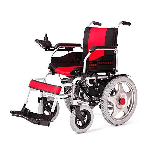 MX XM Wheelchair Electric Wheelchair Elderly Scooter Disabled Walker - Red Armchairs