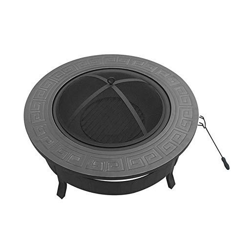 MYF Outdoor camping barbecue one table 3 in 1 multi-function round leisure table barbecue pit fire barbecue ice pit terrace heater stove brazier metal outdoor garden