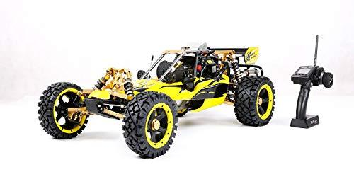 MZL Remote Car 1:5 high with adult fuel remote control car model Rock Crawler/double row silencer exhaust pipe / 45cc single cylinder/four fixed gasoline engine (LxWxH: 817x480x255mm)