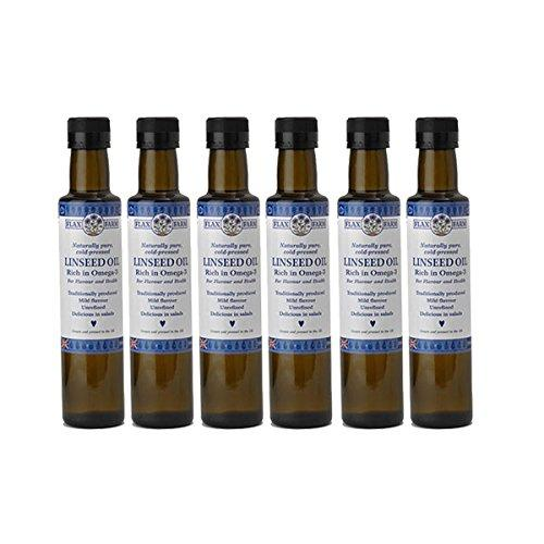 Naturally pure cold-pressed Linseed Oil 250ml (6 Bottles)