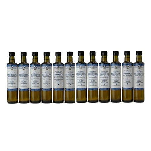 Naturally pure cold-pressed Linseed Oil 500ml (12 Bottles)