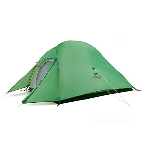 Naturehike Cloud-Up 2 Ultralight Tent Backpacking Tent for 2 Person Hiking Camping Outdoor (210T Green Upgrade)