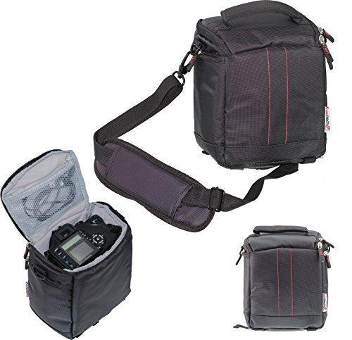 Navitech Black Action Camera Case / Cover - With multiple pockets, including customisable internal storage compartments for the YDI H9R underwater sports cam